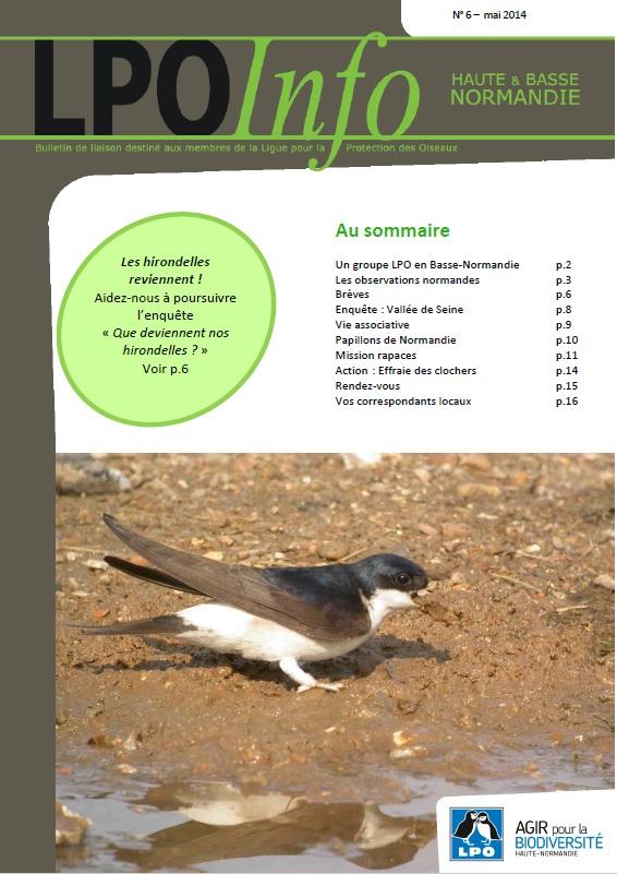 couverture du LPO Infos numéro 06