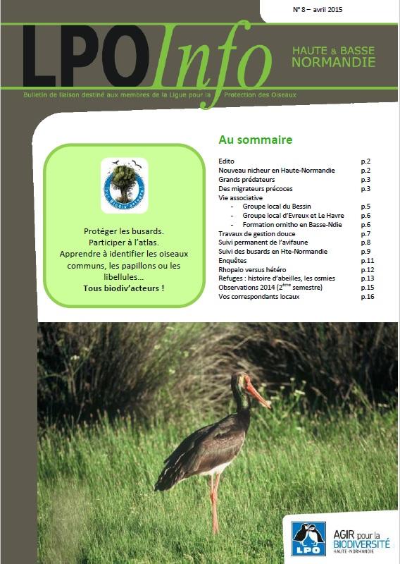 couverture du LPO Infos numéro 08
