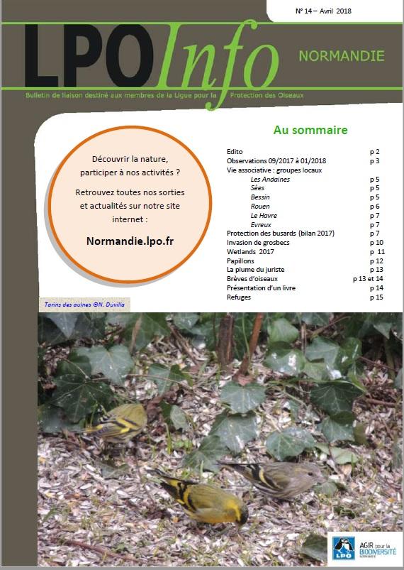 couverture du LPO Infos numéro 14