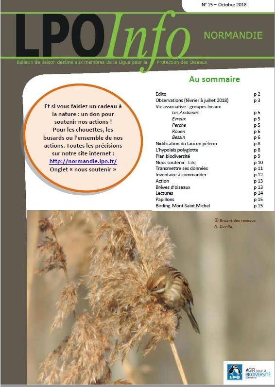couverture du LPO Infos numéro 15