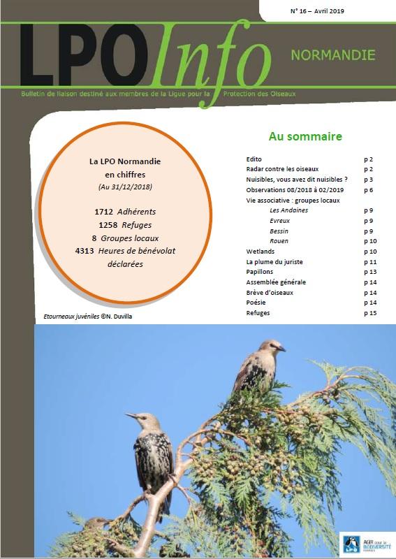 couverture du LPO Infos numéro 16